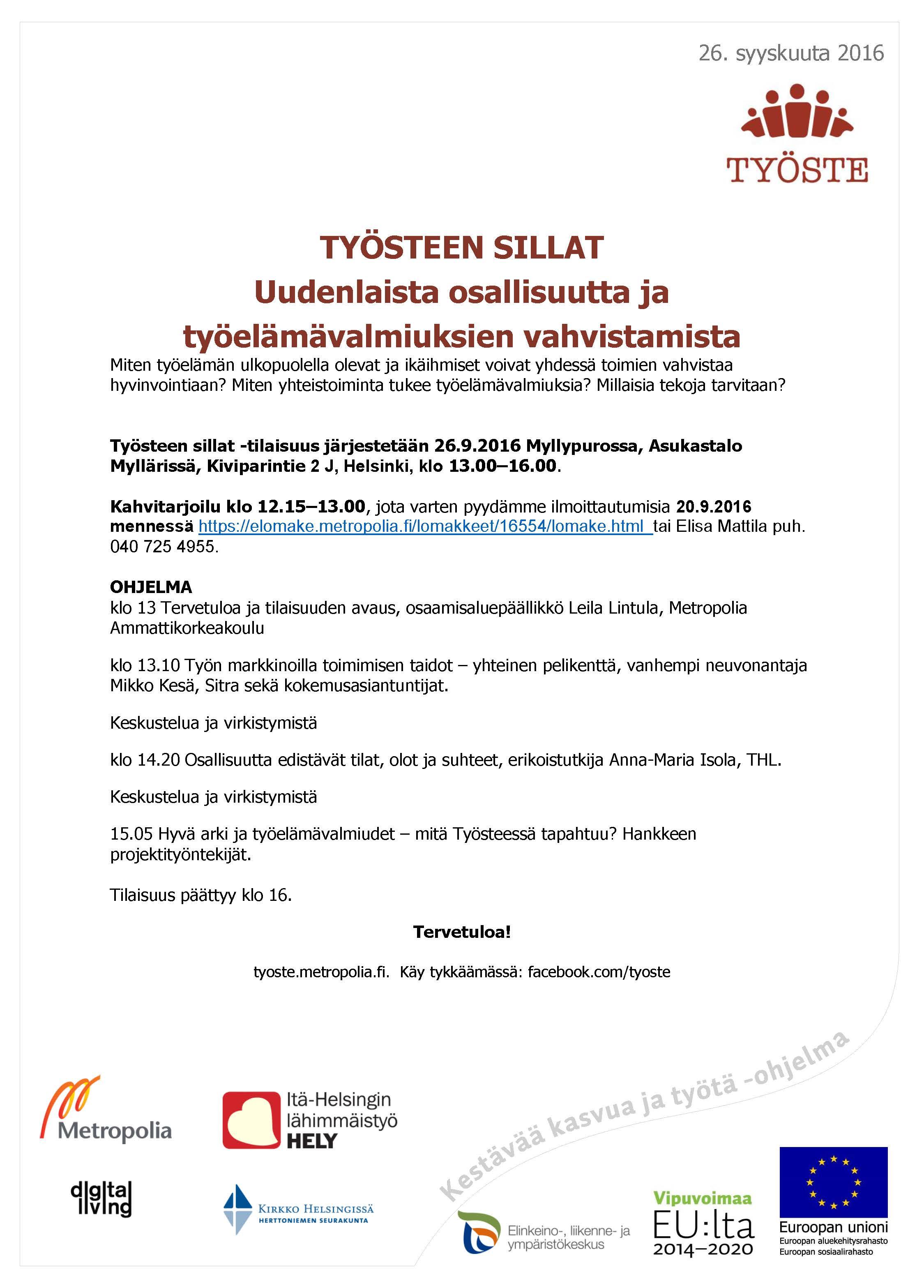 Työsteseminaarin ohjelma 26092016